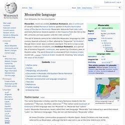 Mozarabic language