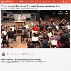 Mozart, Beethoven, Brahms et d'autres sous licence libre