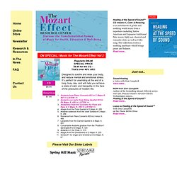 The Mozart Effect® - Books, music, resources and more!®