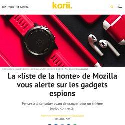 La «liste de la honte» de Mozilla vous alerte sur les gadgets espions
