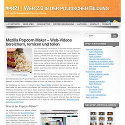 Mozilla Popcorn Maker / pb21