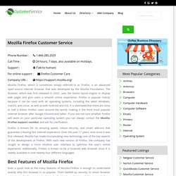 Mozilla Customer Service Number 1-866-285-2029