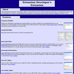 Ted's Mozilla page - Extension Developer's Extension