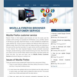 Mozilla Firefox Browser Customer Service number 1-888-269-0130