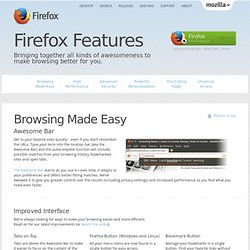 Firefox Web Browser — Firefox Features
