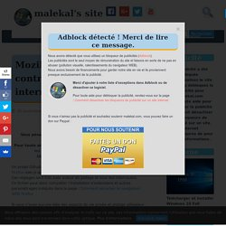 Mozilla Firefox : user.js contre le pistage internaute - malekal's site