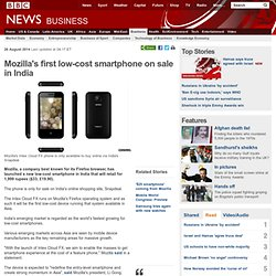 Mozilla's first low-cost smartphone on sale in India