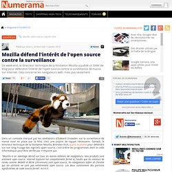 Mozilla défend l'intérêt de l'open source contre la surveillance
