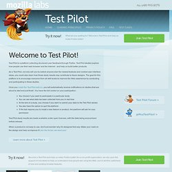 Mozilla Labs Test Pilot - Minefield (Build 20090812045356)