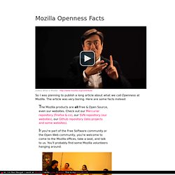 Mozilla Openness facts
