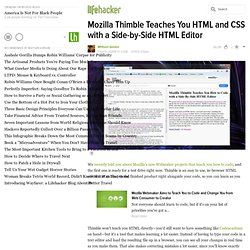 Mozilla Thimble Teaches You How to Code with a Side-By-Side HTML Editor