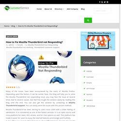 How to Fix Mozilla Thunderbird not Responding/Working?