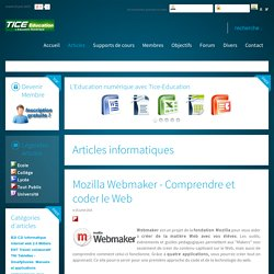 Mozilla Webmaker - Comprendre et coder le Web