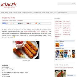 Mozzarella Sticks | Appetizers | Starters | Starter Recipes | Cukzy