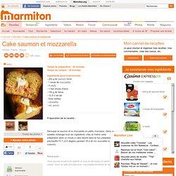 Cake saumon et mozzarella : Recette de Cake saumon et mozzarella