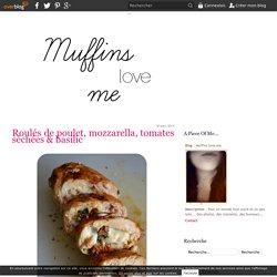 Roulés de poulet, mozzarella, tomates séchées & basilic - Muffins love me