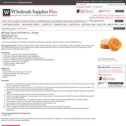 MP Soap: Pamper Me Pedicure - Orange - WholesaleSuppliesPlus
