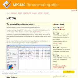 the universal Tag Editor (ID3v2, MP4, OGG, FLAC, ...)