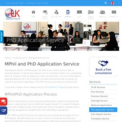 MPhil and PhD Application Service