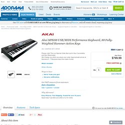Akai MPK88 USB/MIDI Performance Keyboard MPK88