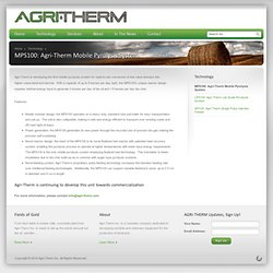 MPS100: Agri-Therm Mobile Pyrolysis System - AGRI-THERM