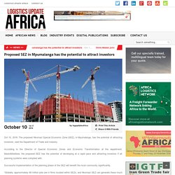 Proposed SEZ in Mpumalanga has the potential to attract investors