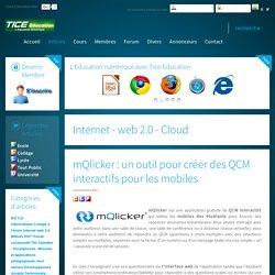 mQlicker: un outil pour créer des QCM interactifs pour les mobiles
