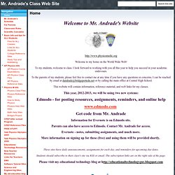 Mr. Andrade's Class Web Site