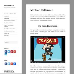 Mr Bean Halloween - ESL for KIDS