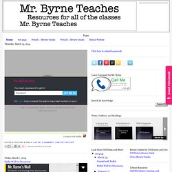Mr. Byrne Teaches