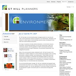 Todd Hill Preparation of NEPA Environmental Documents