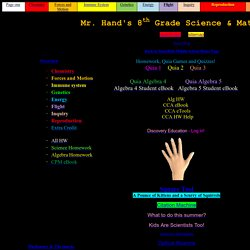 Mr. Hand's Science Site!