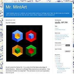 Mr. MintArt: Op Art Cubes