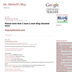 Mr. Mitchell's Blog