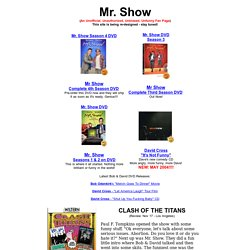 Mr.Show Unofficial Fan Page