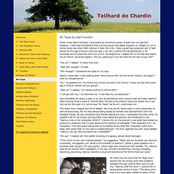 Mr Tayer - Teilhard de Chardin