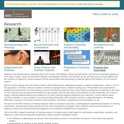 MRC Institute of Hearing Research: Research