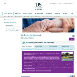 MRes in Wellbeing : Social work and social care : ... : Study with us