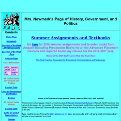 Mrs. Newmark's History Page