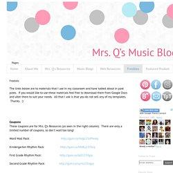 Mrs. Q's Music Blog: Freebies
