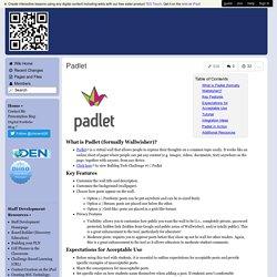 Mrs. Treichler's Wikispace - Padlet