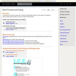mrsmos - MLA Format and Citing