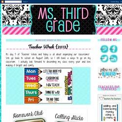 (Ana) Ms. Third Grade: August 2013
