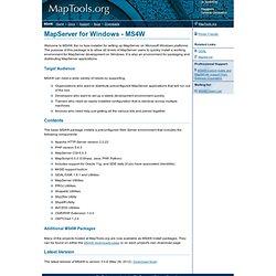 MS4W.MapTools.org