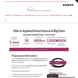 MSc in Applied Data Science & Big Data - DSTI
