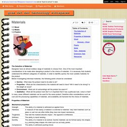 msc-ks4technology - Materials
