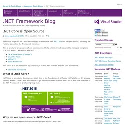 .NET Core is Open Source - .NET Blog