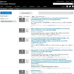 MSDN forums