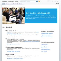 Get Started : The Official Microsoft Silverlight Site