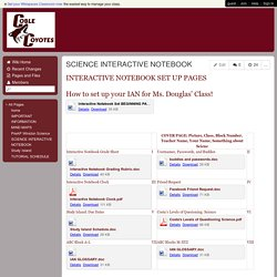 MsDouglasScience - SCIENCE INTERACTIVE NOTEBOOK